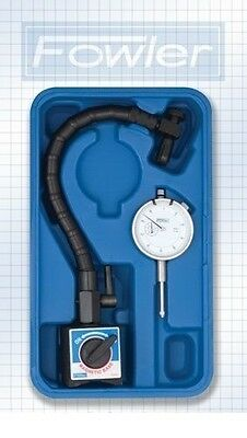Fowler Dial Indicator Gauge - Flexible Arm - Magnetic Base -