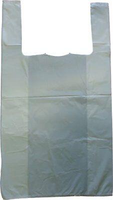 White Plastic Vest Style Plastic Carrier Bags - 10