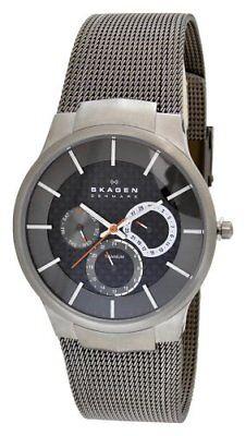 Gents Carbon - Skagen Men's 809XLTTM Carbon Fiber Dial Titanium Watch