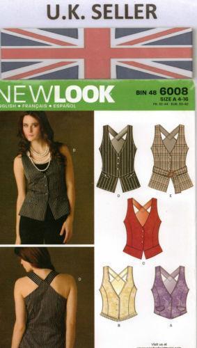 Ladies Waistcoat Sewing Pattern Ebay