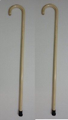 """2 NEW 36"""" WOOD WALKING CANES,WALKING STICKS WITH RUBBER TIPS, FREE SHIPPING !"""