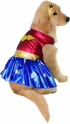 Pet Dog WONDER WOMAN Super Hero Dog Dress up Medium Costume - Wonder Woman Pet Costume