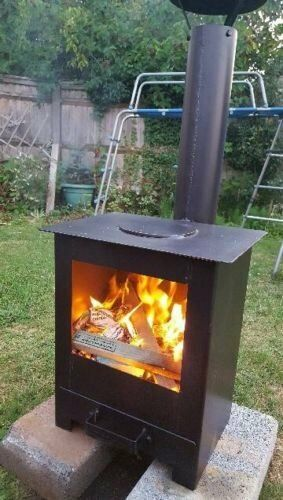 Outdoor Wood Burning Stove Heater Fire Pit Garden Chiminea ...