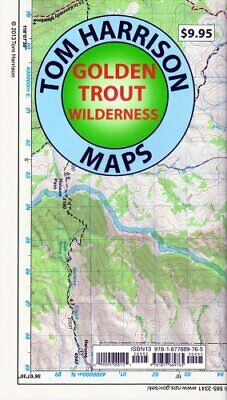 Golden Trout Wilderness Trail Map: Shaded-Relief Topo Map (Tom Harrison - Wilderness Trail Map