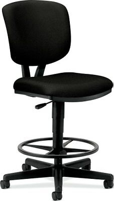Hon Volt Adjustable Height Stool - Fabric Black Seat - Fabric Black Back, ()