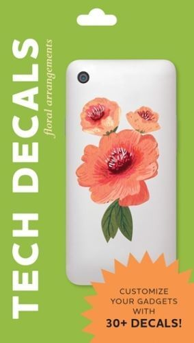 Tech Decals . . . .   30+ removable, floral decals