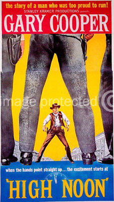 High Noon Vintage Gary Cooper Movie Poster -24x36 (Gary Cooper-poster)