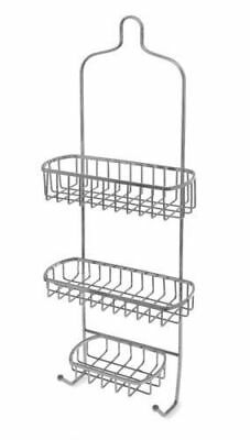CHROME BATH SHOWER CADDY BATHROOM HANGING BASKET RACK STAND TIDY WALL MOUNTED - Chrome Bath Caddy