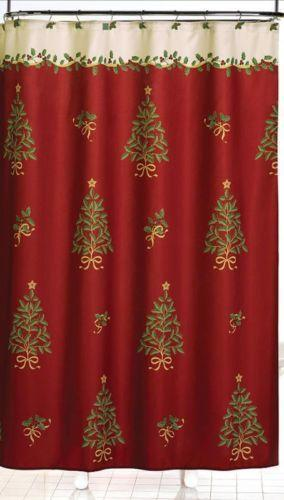 Christmas Shower Curtain | eBay