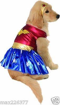 NEW Wonder Woman Rubies DC Heroes Villains Pet dog Costume SUPERHER0  Medium - Wonder Woman Pet Costume