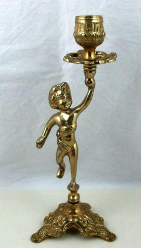Brass Cherub Candle Holder Ebay