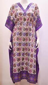 Plus-Size-etnico-Paisley-Floral-Vestido-Largo-Kaftan-Impresion-Abstracta-purpura-24-26