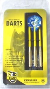 49554-PARRAMATTA-EELS-NRL-SET-3-STEEL-TIP-DARTS-WITH-6-FLIGHTS-ENGLAND-MADE