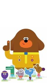 Hey duggee and squirrels cardboard cutouts - fab condition!