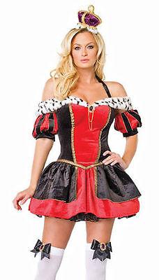 Leg Avenue Sexy Royal Queen Complete Halloween Costume New SZ M Medium 3 - Complete Halloween Costumes