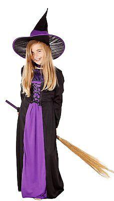 Hexenkostüm Halloween für Kinder - komplettes Kostüm Hexe lila 87687