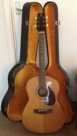 Yamaha FG-75 Acoustic Guitar with Hard Case