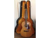 Yamaha FG-75 Acoustic Guitar with Hard Case