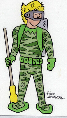 Fred Hembeck Sketch Card: Pirana, 1960's Harvey Comics Thrill-O-Rama 1/1