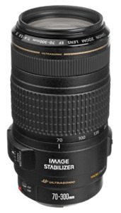 Canon EF 70-300mm f/4-5.6 IS USM + 2 Filters (like new)
