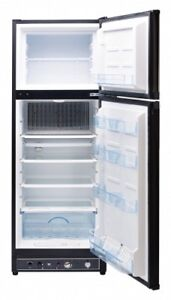 Unique 10 cu/ft Propane Refrigerator, Stainless/black