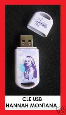 CLE USB FLASH DRIVE HANNAH MONTANA MILEY CYRUS JEUNE TEEN NEUVE DISNEY LEXAR