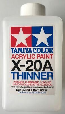 TAMIYA X-20A THINNER DILUENTE PER COLORI ACRILICI 250 ml ART 81040