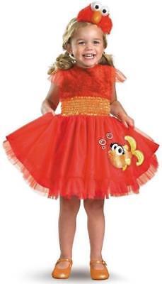 Frilly Elmo Sesame Street Red Monster Fancy Dress Up 3T Halloween Child Costume - Baby Halloween Led