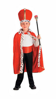 King Red Robe and Crown Set for Kids Halloween - King Crown For Kids