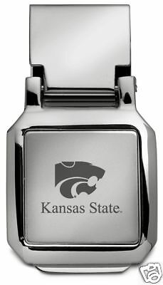 State Wildcats Spring - new! Kansas State University ENGRAVED SILVER SPRING MONEY CLIP KSU Wildcats