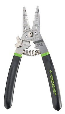 Greenlee Stainless Steel Wire Stripper/Cutter/Crimper! Solid Stranded 10-20 AWG