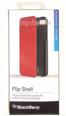 NEW FLIP SHELL CASE RED COVER FOR BLACKBERRY Z10 OEM Blackberry Z10 Flip Shell