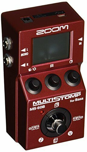 Zoom MS-60B MultiStomp Bass Guitar Effects Pedal, Single Stompbox Size, 58 Built