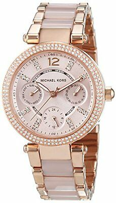 Michael Kors Women\s MK6110 Rose Gold Mini Parker Blush Acetate Watch