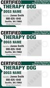 Therapy Dog ID