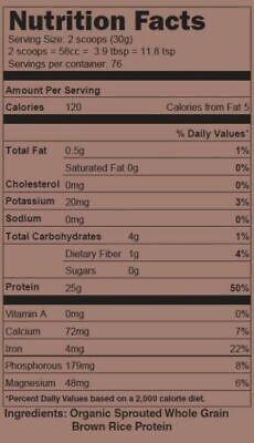 5lb 100% ORGANIC RICE PROTEIN PRO ISOLATE NON-GMO HIGH PROTEIN VEGAN USP GRADE  1