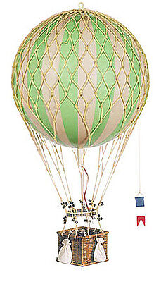 Hot Air Balloon Model Green White Striped 13 Hanging Aviation Home Decor