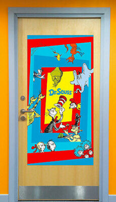 DR. SEUSS Scene Setter CAT IN THE HAT Birthday Party wall/door decoration Horton](Cat In The Hat Birthday Decorations)