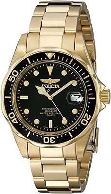 Invicta Men's Pro Diver Quartz 3 Hand Black Dial Watch 8936