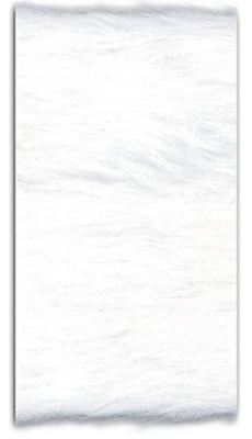 (TRIMPLACE Faux Fur Trim - White 4 inch - 5 Yards)