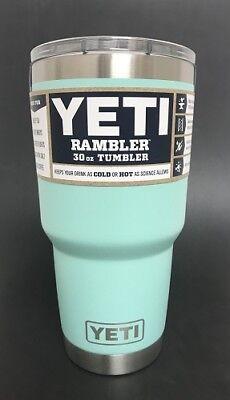 New!! Genuine Yeti 30oz Rambler Tumbler w/ Magnet Lid SEAFOAM New!!