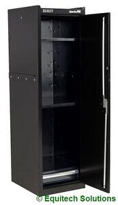 sealey ap33519b metal tool box hang on locker side cabinet black with drawer. Black Bedroom Furniture Sets. Home Design Ideas