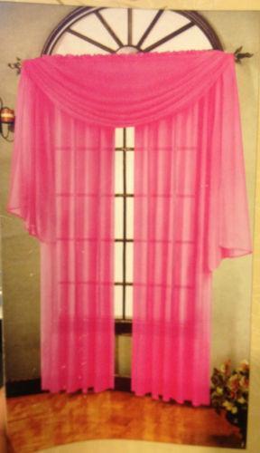 Hot Pink Sheer Curtains Ebay