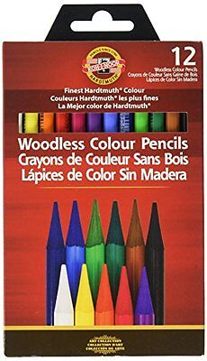 Koh-I-Noor Woodless Colored Pencil Sets, New, Free Shipping