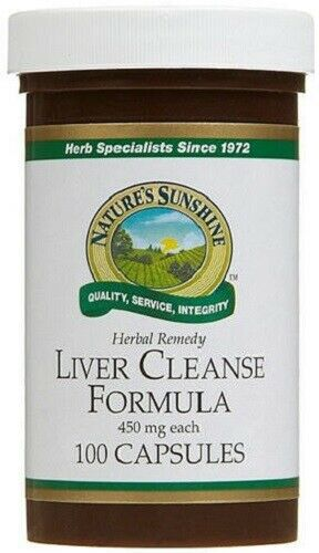 Nature's Sunshine Liver Cleanse Formula 450mg  Herbal Remedy
