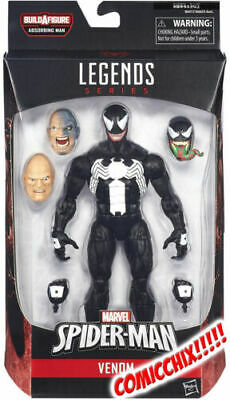 MARVEL LEGENDS SPIDER-MAN ABSORBING MAN SERIES VENOM 6 INCH FIGURE WITH BAF