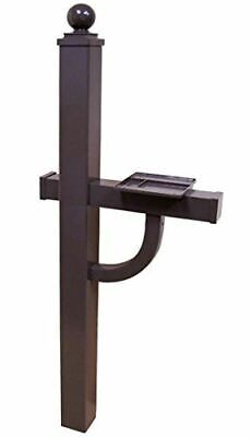 Gaines Manufacturing Keystone Aluminum Deluxe Mailbox Post in Bronze