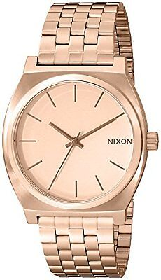 c89ab97217c Nixon Time Teller Rose Gold-Tone Stainless Steel Quartz Ladies Watch  A045-897