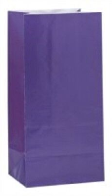- Purple Paper Sweet/Party Bags Pack of 12