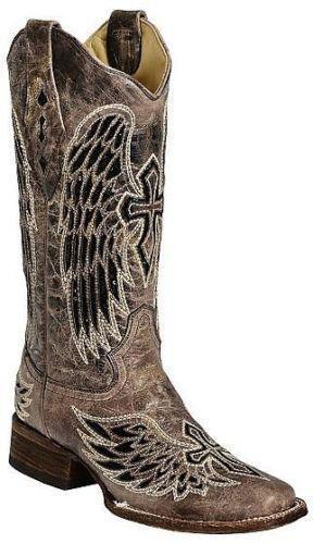 Womens Black Square Toe Cowboy Boots Ebay